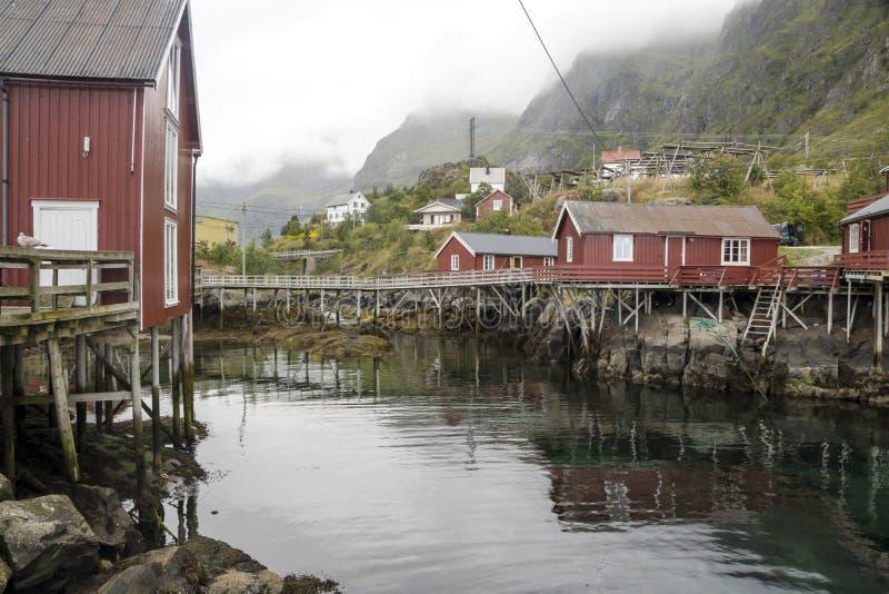 挪威的河道线路 库存图片