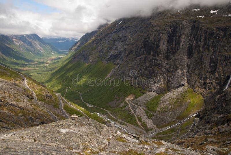 挪威的谷 库存图片