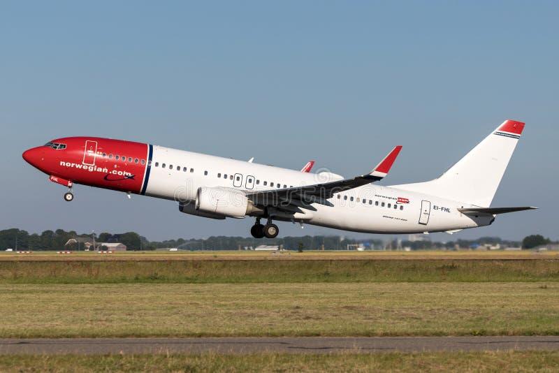 挪威空气国际波音737-800 图库摄影
