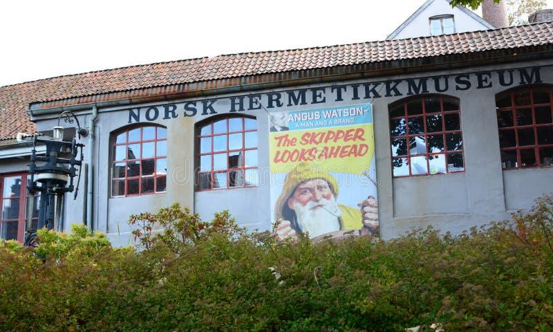 挪威装于罐中的博物馆 斯塔万格 罗加兰县 挪威 库存图片