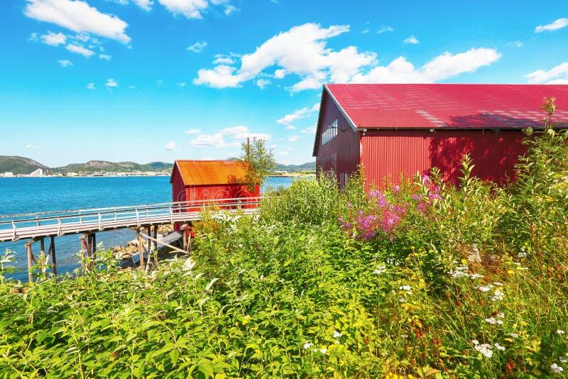 挪威锯木厂博物馆,纳姆索斯 库存照片
