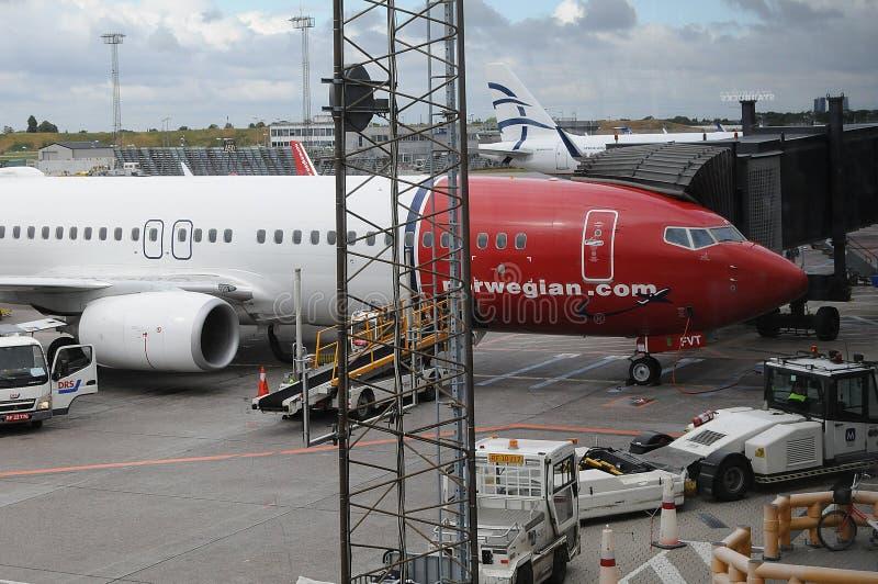 挪威飞行在哥本哈根INT ?? 免版税库存照片
