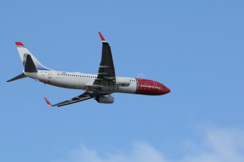 挪威飞行 库存照片