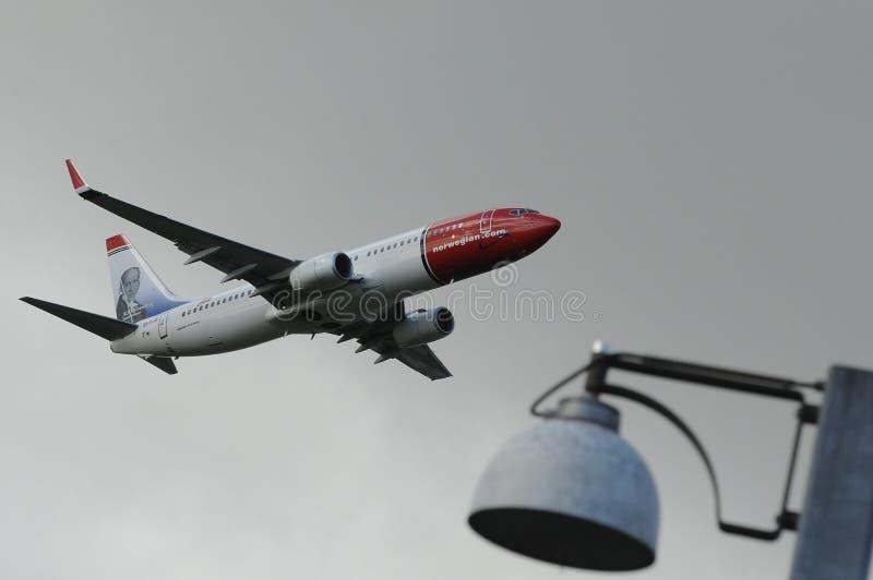 挪威飞行 免版税库存图片
