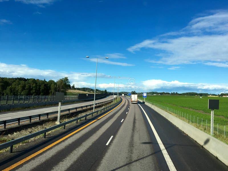 挪威高速公路 库存图片