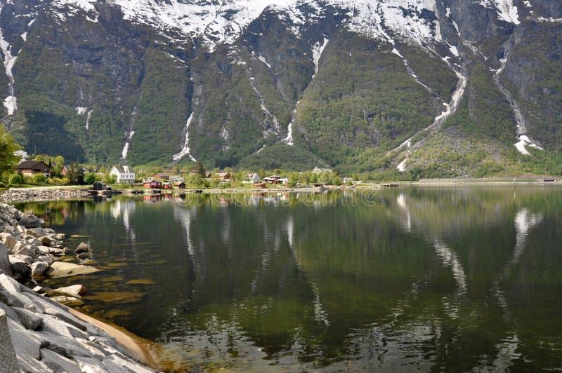 挪威,挪威海湾 库存图片