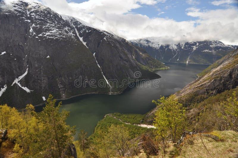 挪威,挪威海湾 免版税库存照片