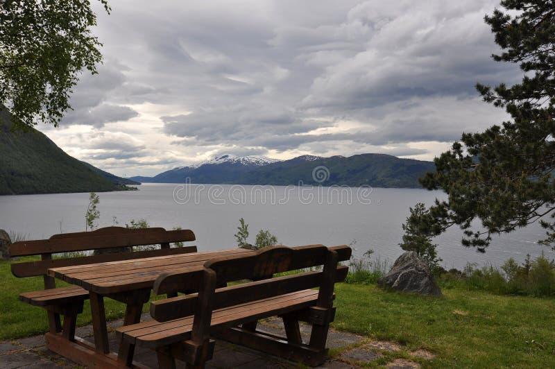 挪威,挪威海湾 免版税图库摄影