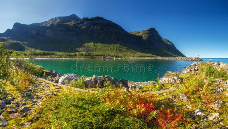 挪威 塞尼亚岛海岛 库存图片