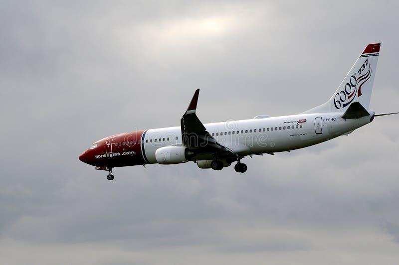 挪威 COM飞行 图库摄影