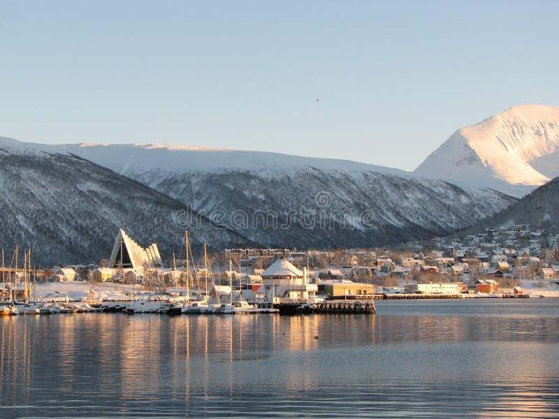 挪威troms 库存图片