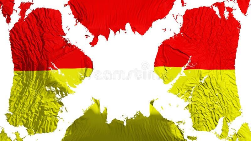 振翼在风的比勒陀利亚城市被撕毁的旗子 皇族释放例证