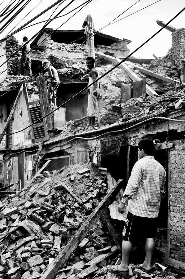 挽救尼泊尔 库存图片
