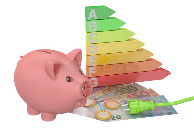 挽救能源消耗概念 向量例证