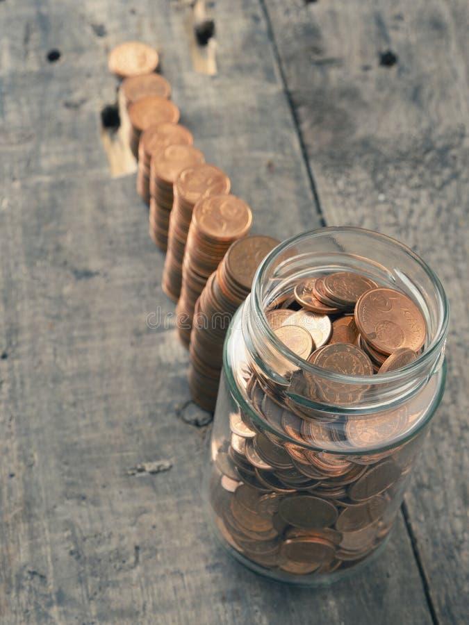 挽救金钱和变得富有 库存图片