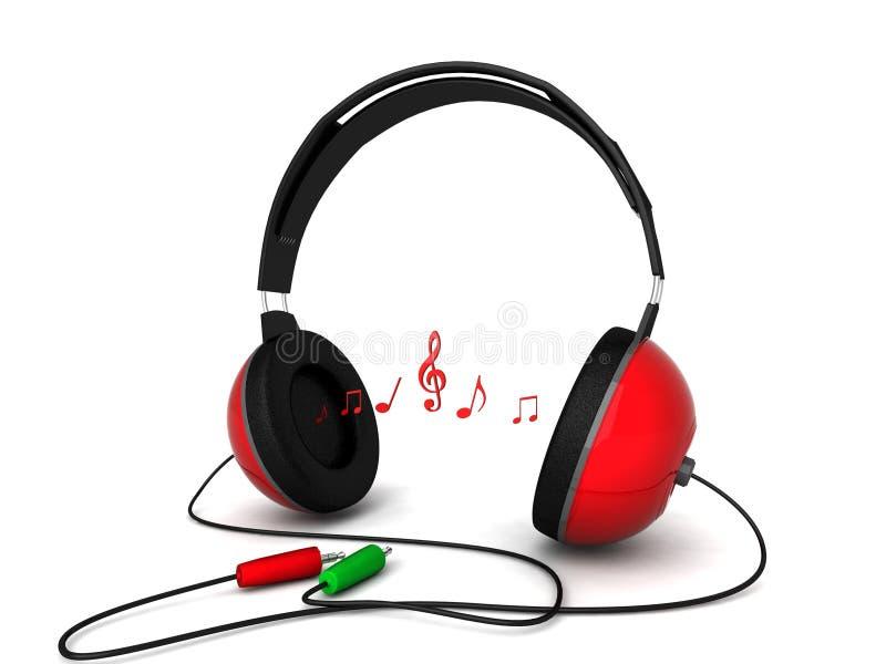 捆绑尺寸耳机三视图 库存例证