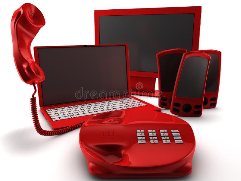 捆绑电话公司 向量例证