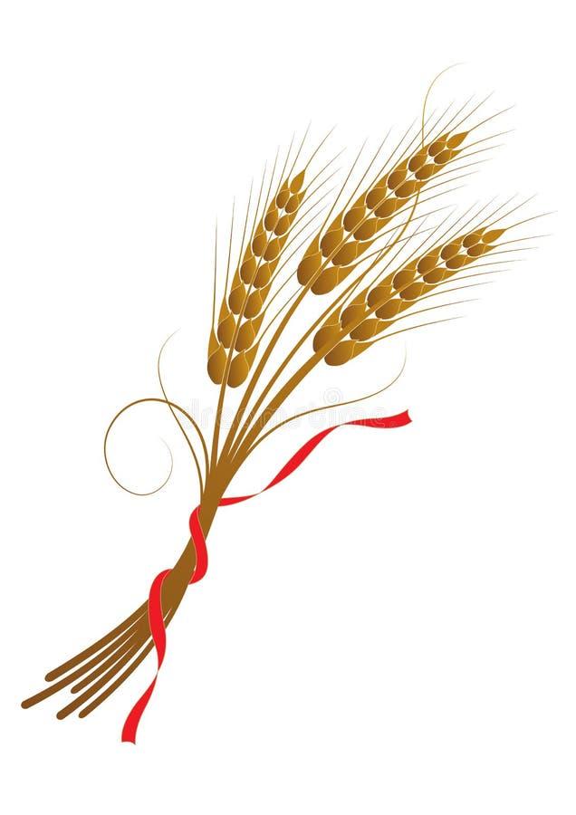 捆麦子附加与丝带 皇族释放例证