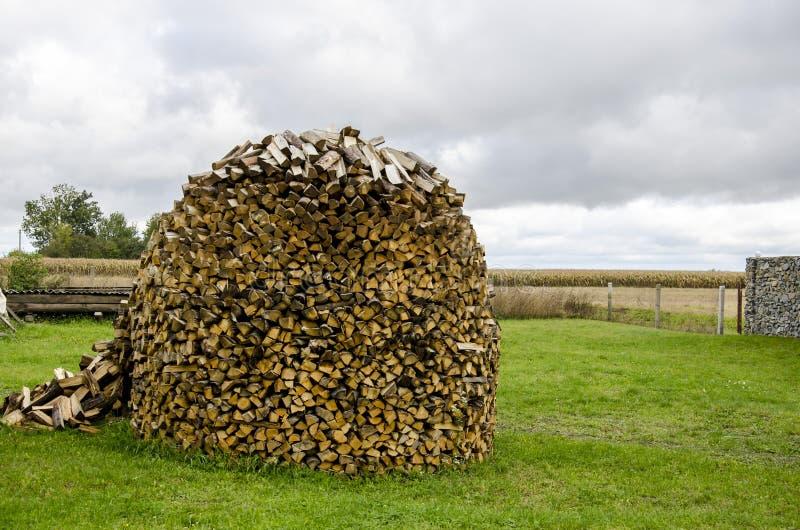 捆绑火炉的木头 免版税图库摄影