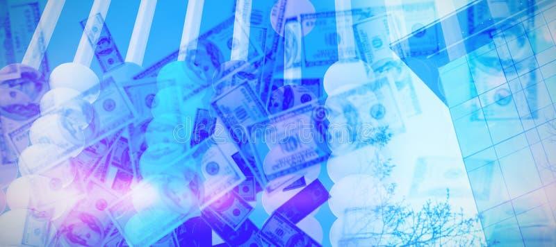 捆绑的综合图象我们一百美元钞票 皇族释放例证