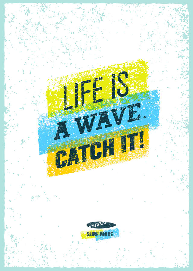 捉住波浪 在难看的东西困厄的背景的创造性的海浪刺激传染媒介横幅概念 向量例证