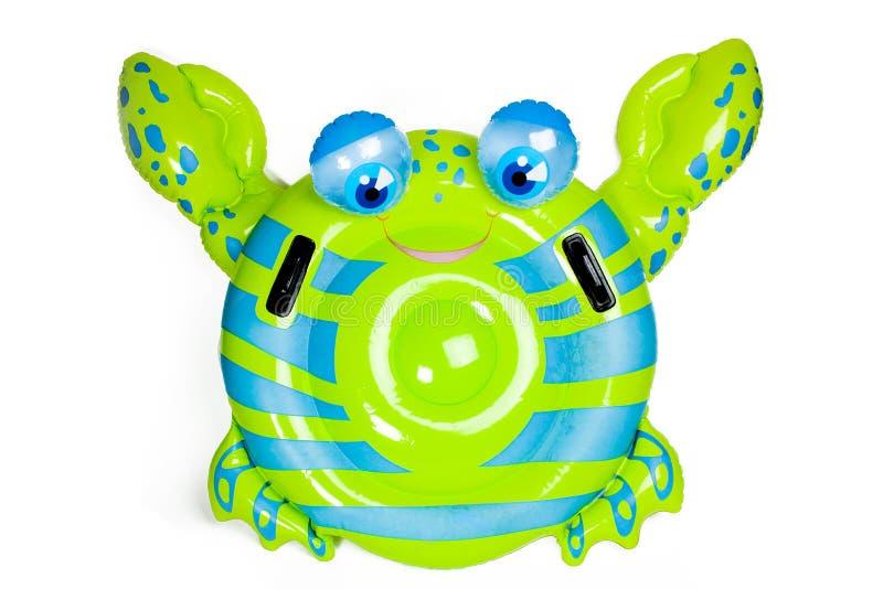 捉蟹可膨胀的池玩具 免版税库存照片