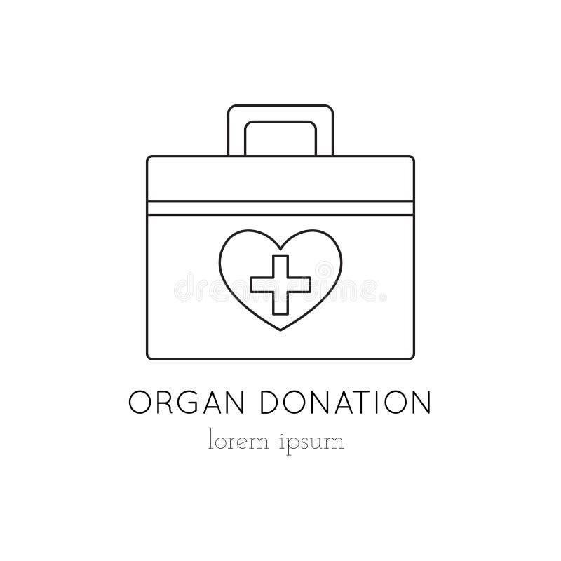 捐献器官容器象 向量例证