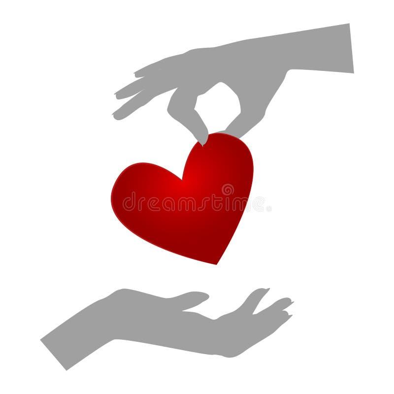 捐献器官 库存例证