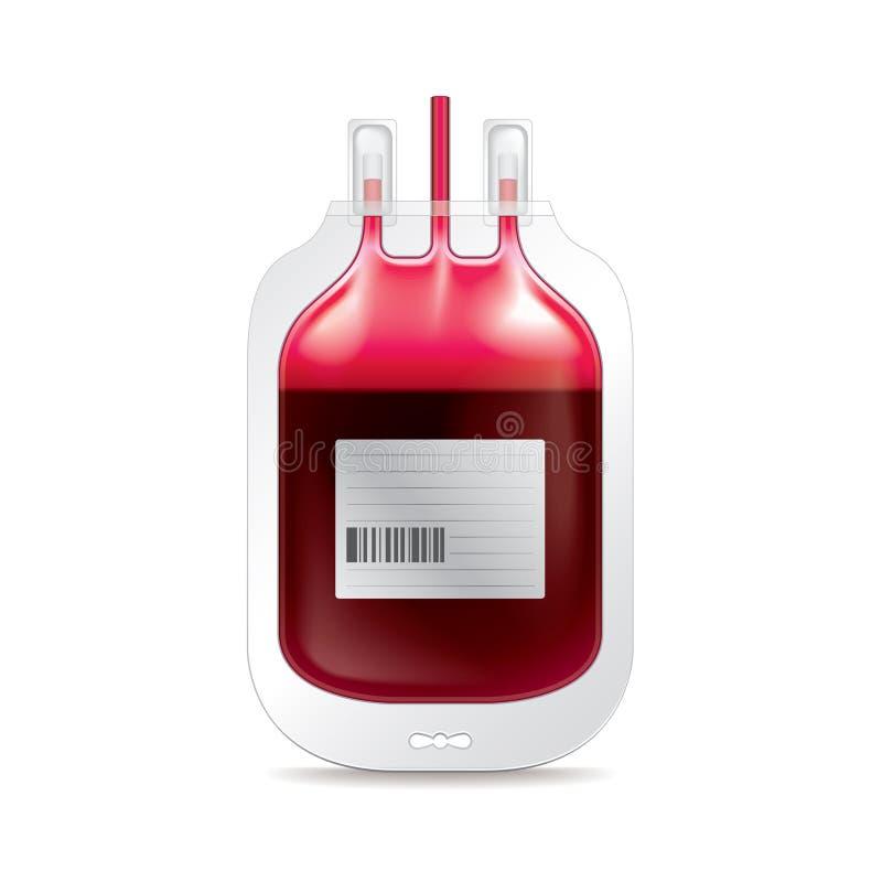 捐赠在白色传染媒介的血液 库存例证