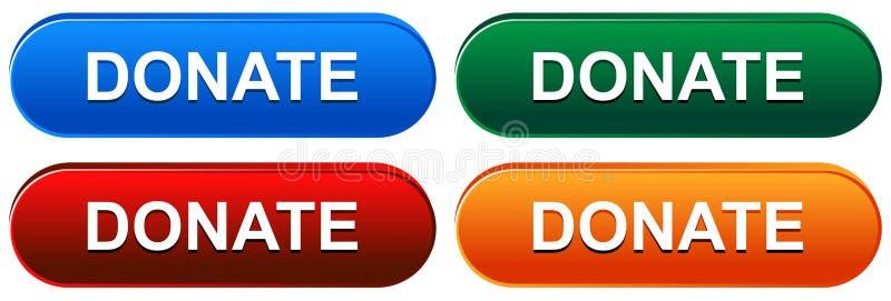 捐赠在白色的网按钮 库存例证
