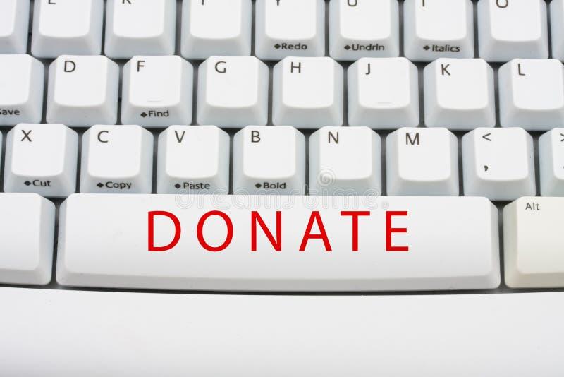 捐赠在线货币 免版税库存照片