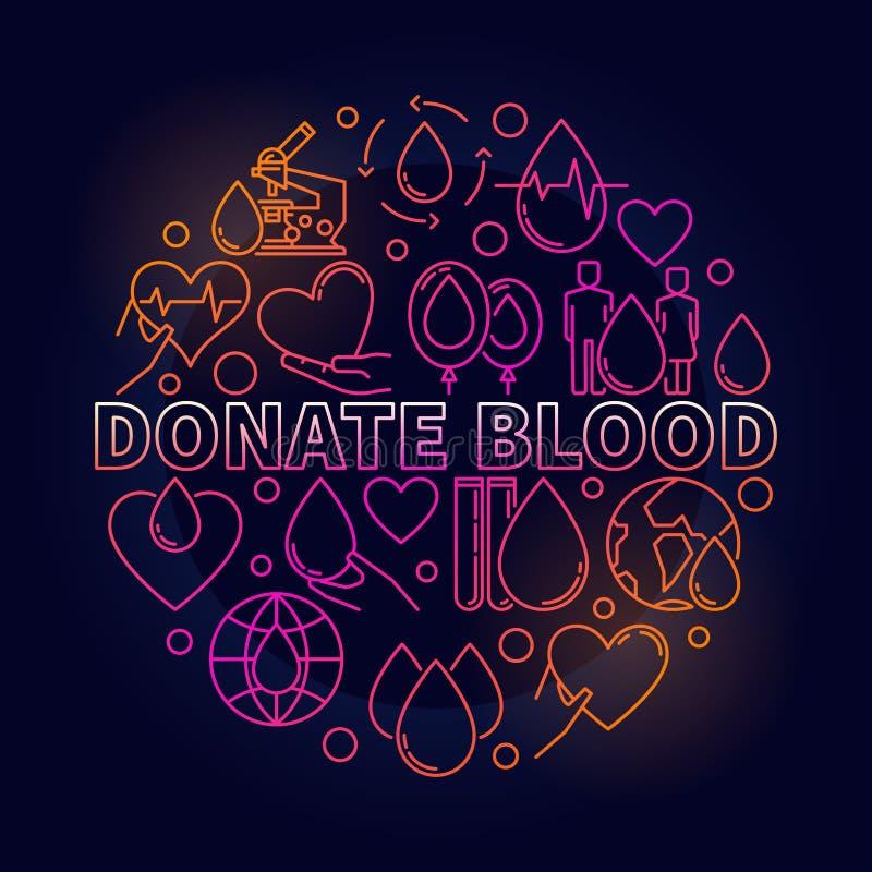 捐赠血液五颜六色的圆的例证 皇族释放例证