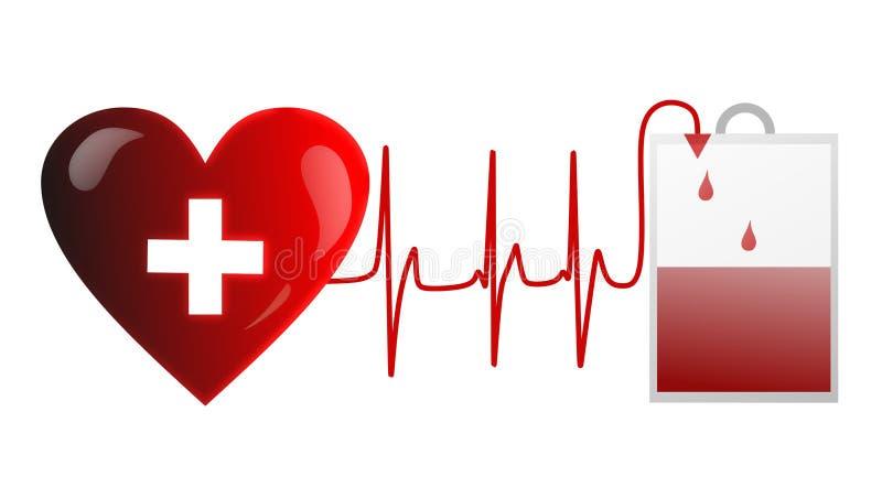 捐赠血液 库存例证