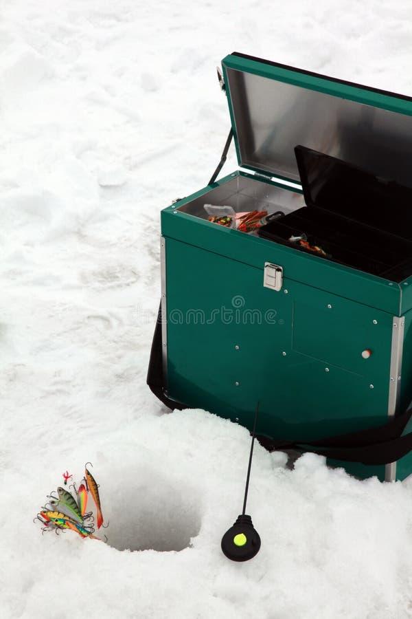 捕鱼冰工具 库存图片