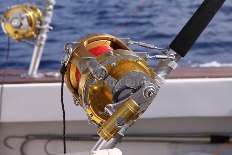 捕鱼卷轴 免版税库存照片