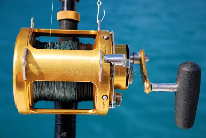 捕鱼卷轴 免版税库存图片