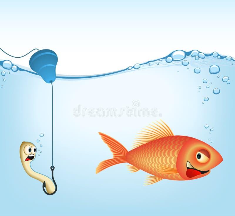 捕鱼图象向量 库存例证