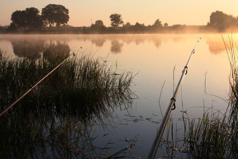 捕鱼时间 库存照片