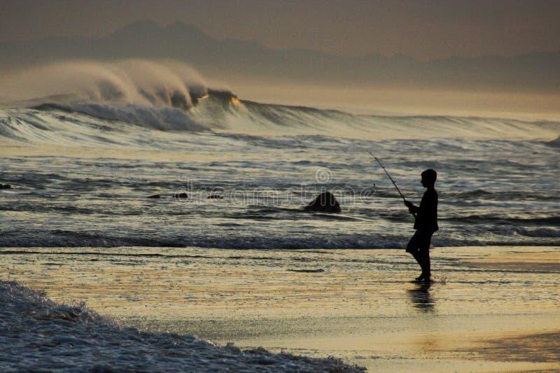 捕鱼海洋 免版税库存照片