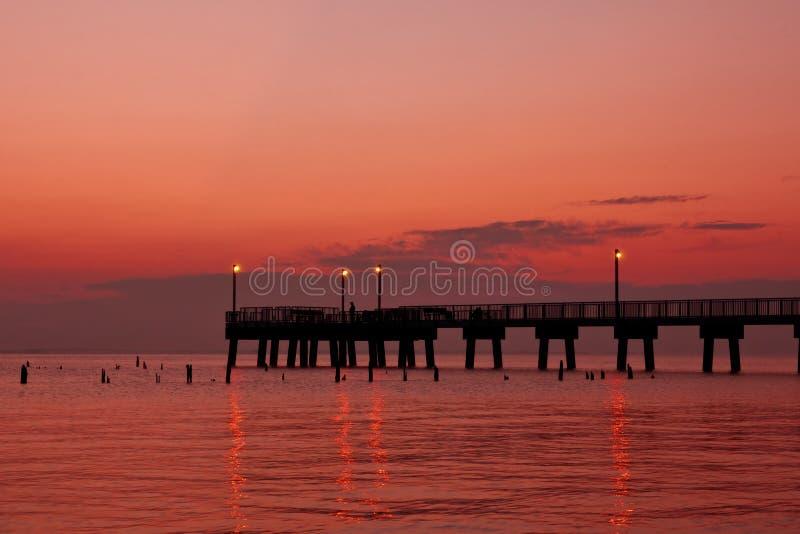 捕鱼码头早晨 库存照片