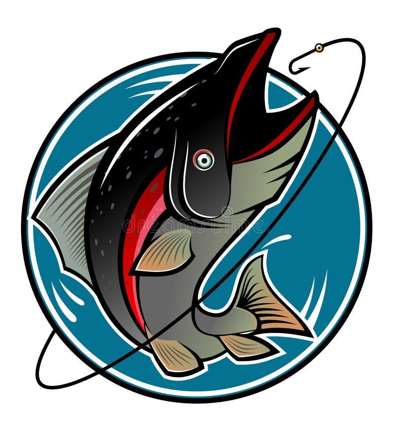 捕鱼符号 库存例证