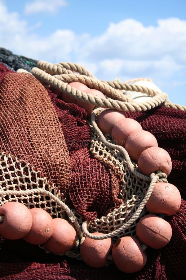 捕鱼网红色 图库摄影