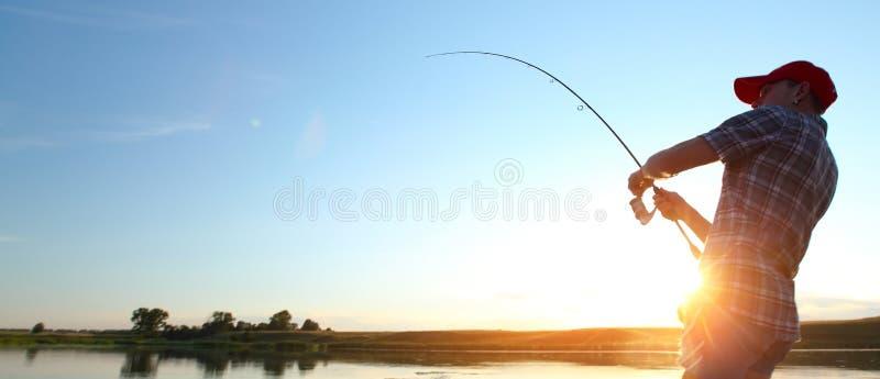 捕鱼 库存照片