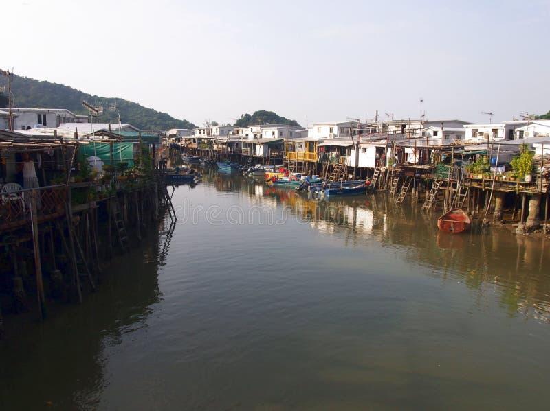 捕鱼o tai村庄 图库摄影