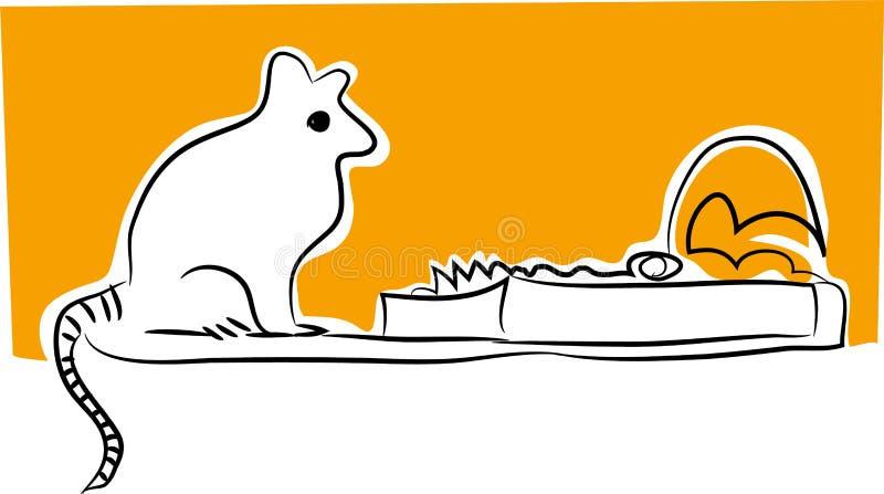 捕鼠器和老鼠传染媒介例证 皇族释放例证