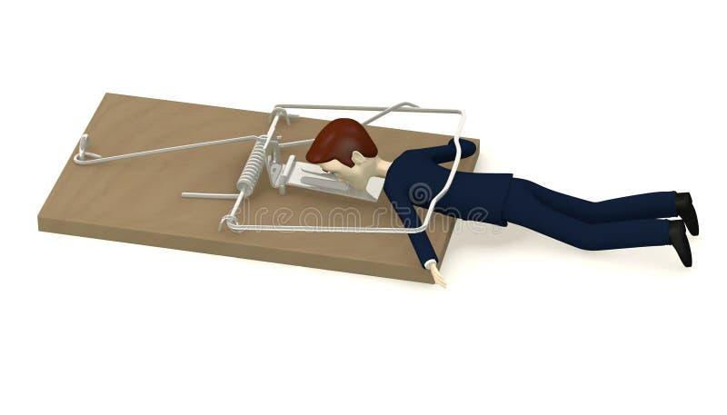 捕鼠器杀害的生意人 向量例证