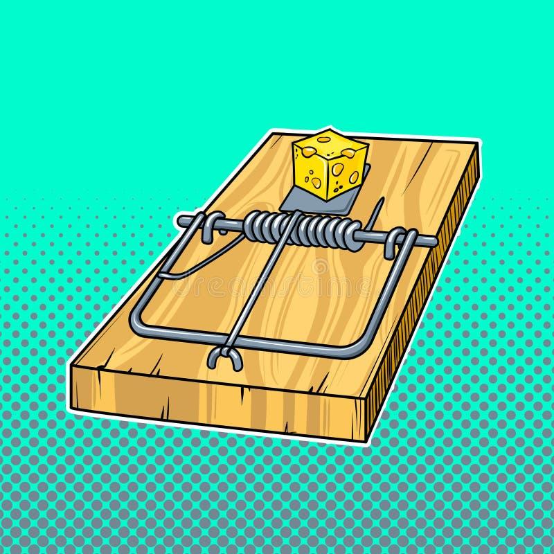 捕鼠器漫画书样式传染媒介例证 库存例证