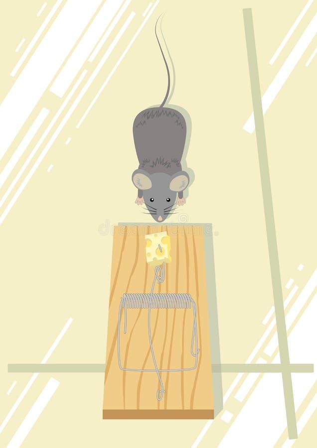 捕鼠器 库存例证