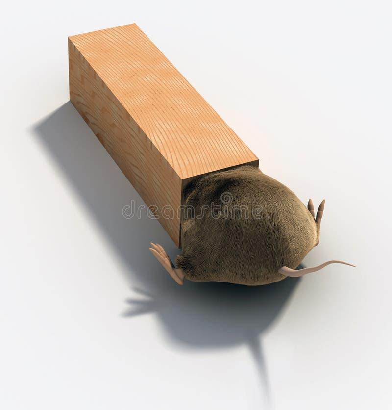 捕鼠夹 库存例证