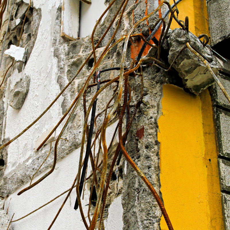 损坏地震 库存图片
